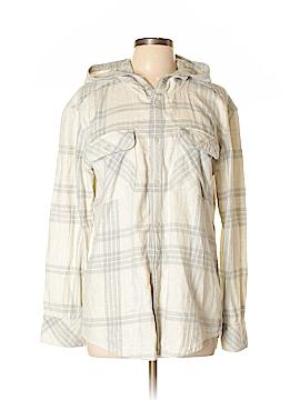 TNA Long Sleeve Button-Down Shirt Size L