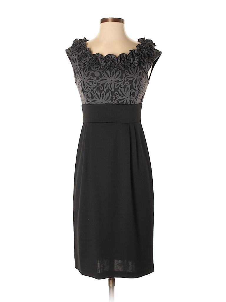 London Times Crochet Black Cocktail Dress Size 4 - 73% off   thredUP