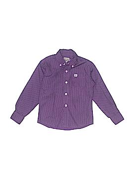 Cinch Long Sleeve Button-Down Shirt Size 3T