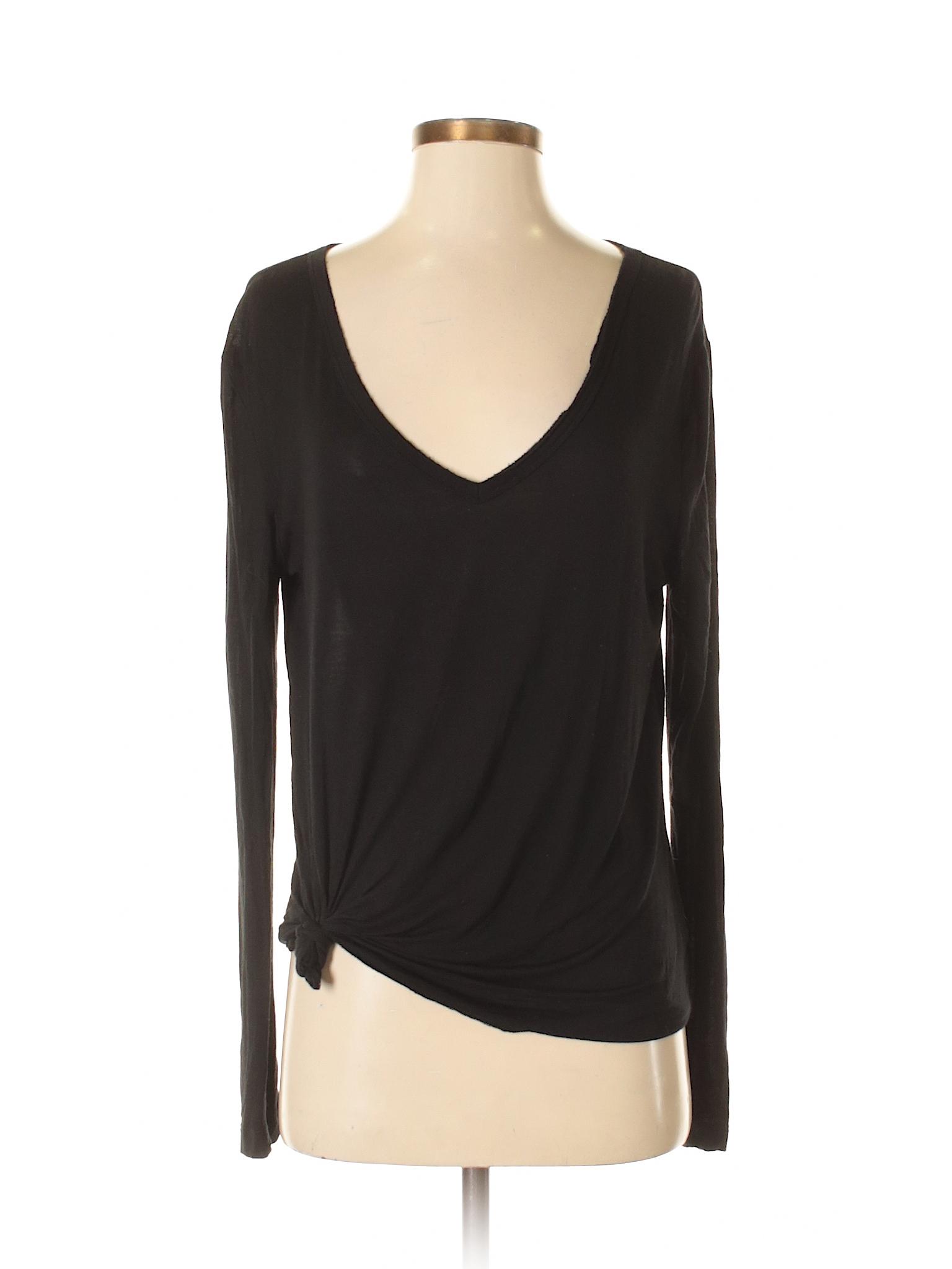 1c33e086 Details about Double Zero Women Black Long Sleeve Top Sm
