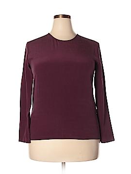 Grana Long Sleeve Silk Top Size L