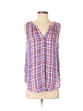 Lucky Brand Sleeveless Button-Down Shirt Size S