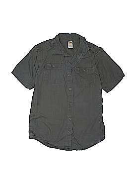 Gymboree Outlet Short Sleeve Button-Down Shirt Size L (10-12)