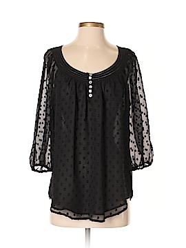 Black Rainn 3/4 Sleeve Blouse Size S