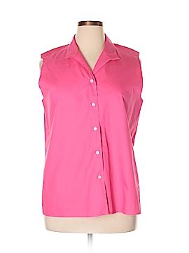 Liz Claiborne Sleeveless Button-Down Shirt Size 16