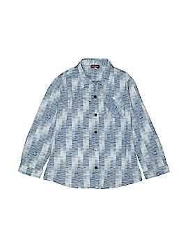 Rabbit Moon Long Sleeve Button-Down Shirt Size 6