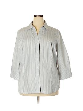 Worthington Long Sleeve Button-Down Shirt Size 3X (Plus)