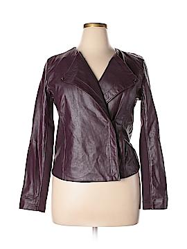 CALVIN KLEIN JEANS Faux Leather Jacket Size L
