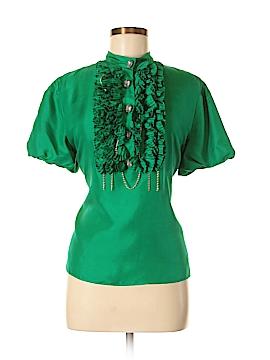 Meghan Los Angeles Short Sleeve Silk Top Size 4