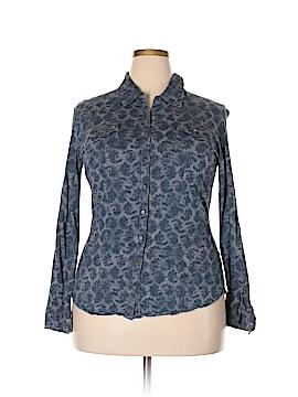 Ruff Hewn Long Sleeve Button-Down Shirt Size XL