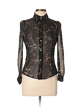 Moschino Long Sleeve Silk Top Size 10
