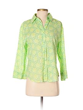 Tibi 3/4 Sleeve Button-Down Shirt Size L