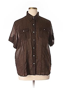 Charter Club Short Sleeve Button-Down Shirt Size 20w (Plus)