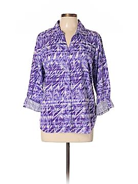 Erika Long Sleeve Button-Down Shirt Size L