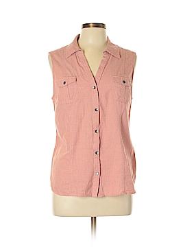 SONOMA life + style Sleeveless Button-Down Shirt Size L