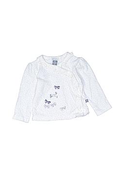Petit Lem Long Sleeve Button-Down Shirt Size 9 mo