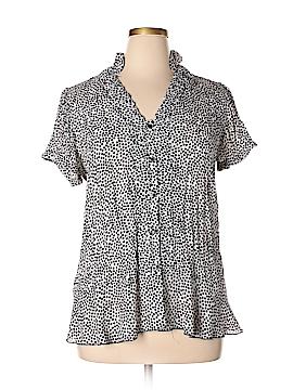 Sunny Leigh Short Sleeve Blouse Size 0X (Plus)