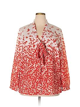Jete Long Sleeve Blouse Size 2X (Plus)