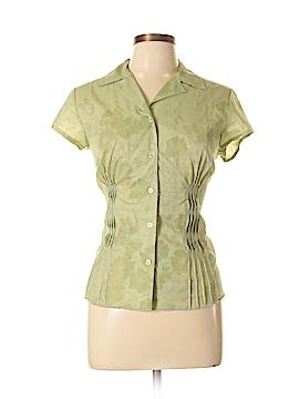 Emma James Short Sleeve Button-Down Shirt Size 10