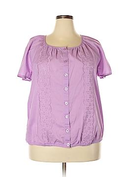 Christopher & Banks Short Sleeve Button-Down Shirt Size 1X (Plus)