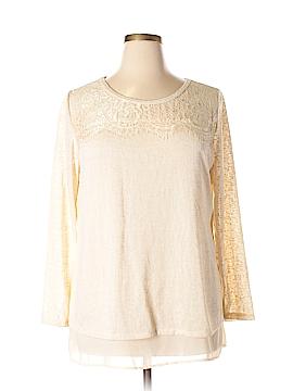 Adiva Long Sleeve Top Size 1X (Plus)