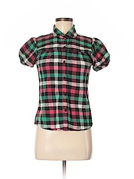 Sans Souci Short Sleeve Button-Down Shirt Size M
