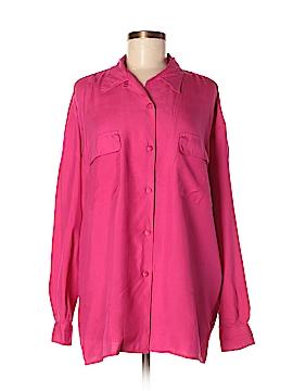 Giorgio Sant'Angelo Long Sleeve Silk Top Size L