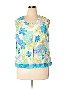 Van Heusen Sleeveless Button-Down Shirt Size XL