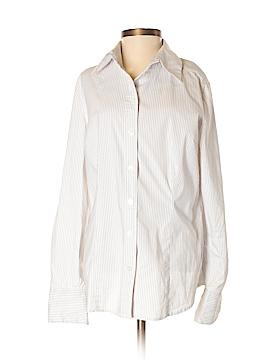 Apostrophe Long Sleeve Button-Down Shirt Size M