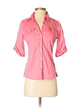 Sandra Ingrish 3/4 Sleeve Button-Down Shirt Size XS (Petite)
