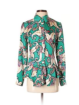 Thakoon Long Sleeve Silk Top Size 2