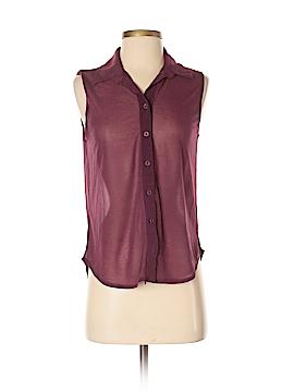 Dots Sleeveless Button-Down Shirt Size S