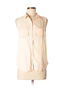 Rubbish Sleeveless Button-Down Shirt Size M