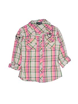 Coogi Long Sleeve Button-Down Shirt Size 10