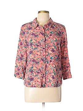 ModCloth 3/4 Sleeve Button-Down Shirt Size L