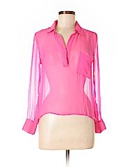 Charlie Jade Women Long Sleeve Silk Top Size XS