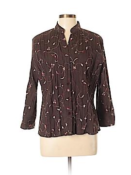Bay Studio 3/4 Sleeve Button-Down Shirt Size L