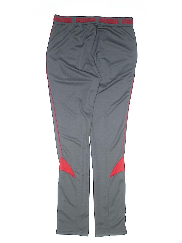 cde25da9fbfa Puma 100% Polyester Color Block Gray Track Pants Size X-Large (Youth ...