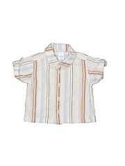 Lullaby Club Boys Short Sleeve Button-Down Shirt Size 3 mo