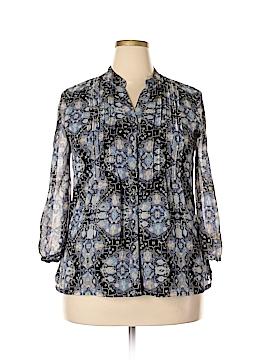 JM Collection Long Sleeve Blouse Size 14 (Plus)