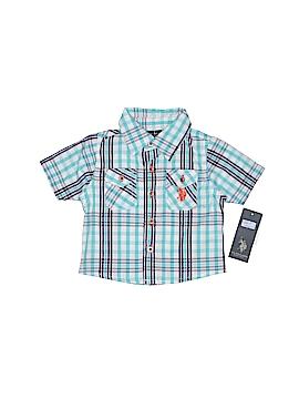 U.S. Polo Assn. Short Sleeve Button-Down Shirt Size 3-6 mo