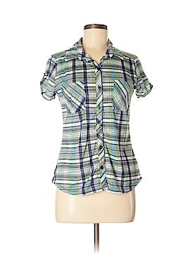 No Comment Short Sleeve Button-Down Shirt Size M