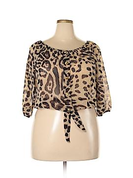 Moa U.S.A. 3/4 Sleeve Blouse Size 1X (Plus)