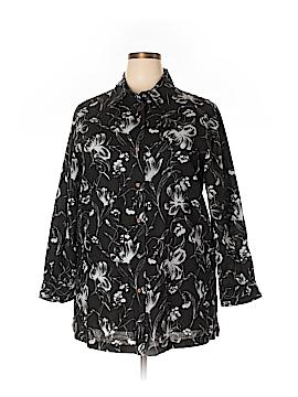 Harve Benard by Benard Haltzman Long Sleeve Button-Down Shirt Size 1X (Plus)