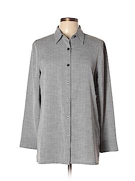 Sag Harbor Long Sleeve Button-Down Shirt Size 10