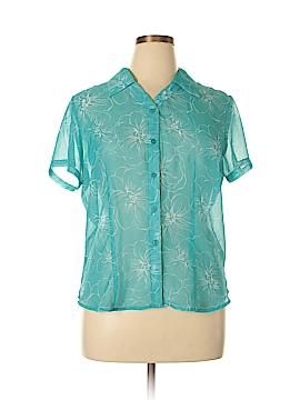 Apparenza Short Sleeve Blouse Size L