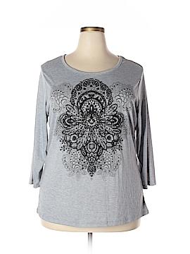 Katie's Kloset 3/4 Sleeve T-Shirt Size 1X (Plus)