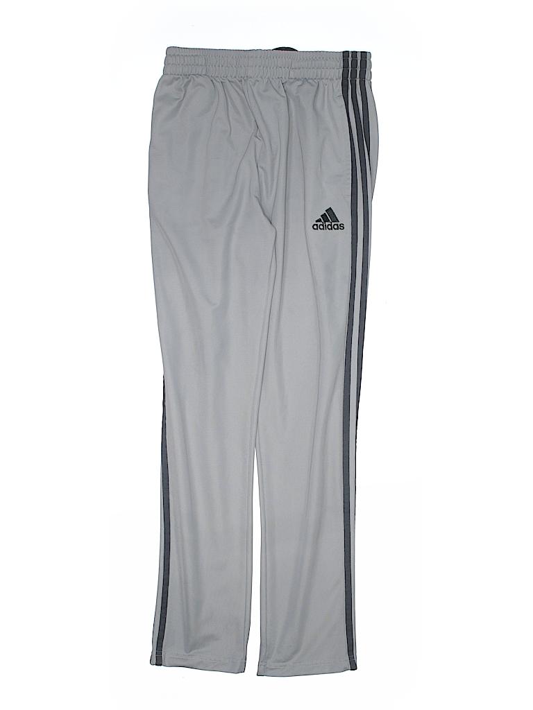 daeddaf6e4b9 Adidas 100% Polyester Stripes Gray Track Pants Size 14 - 16 - 31 ...