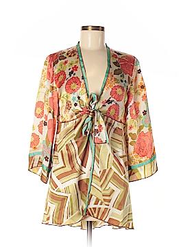 CAbi 3/4 Sleeve Silk Top Size M