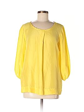 DKNY 3/4 Sleeve Silk Top Size 8
